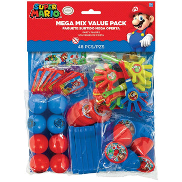 Super Mario Party Favors Pack - Birthday Party Decorations Birthday Party Plates