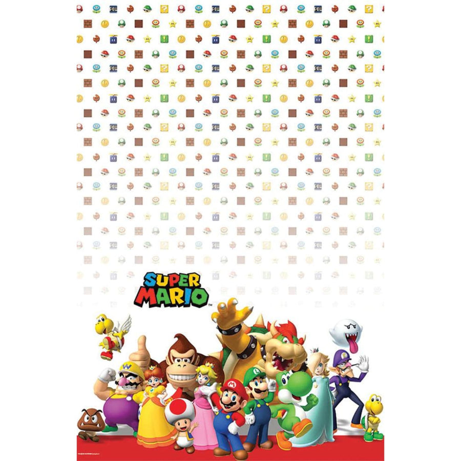 Super Mario Party Table Cover - Birthday Party Decorations Birthday Party Plates