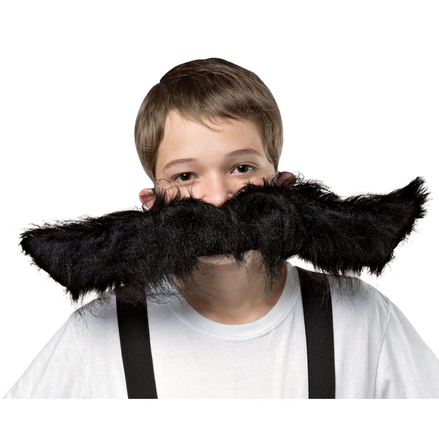 Super Stache Black 20 In - Halloween costumes