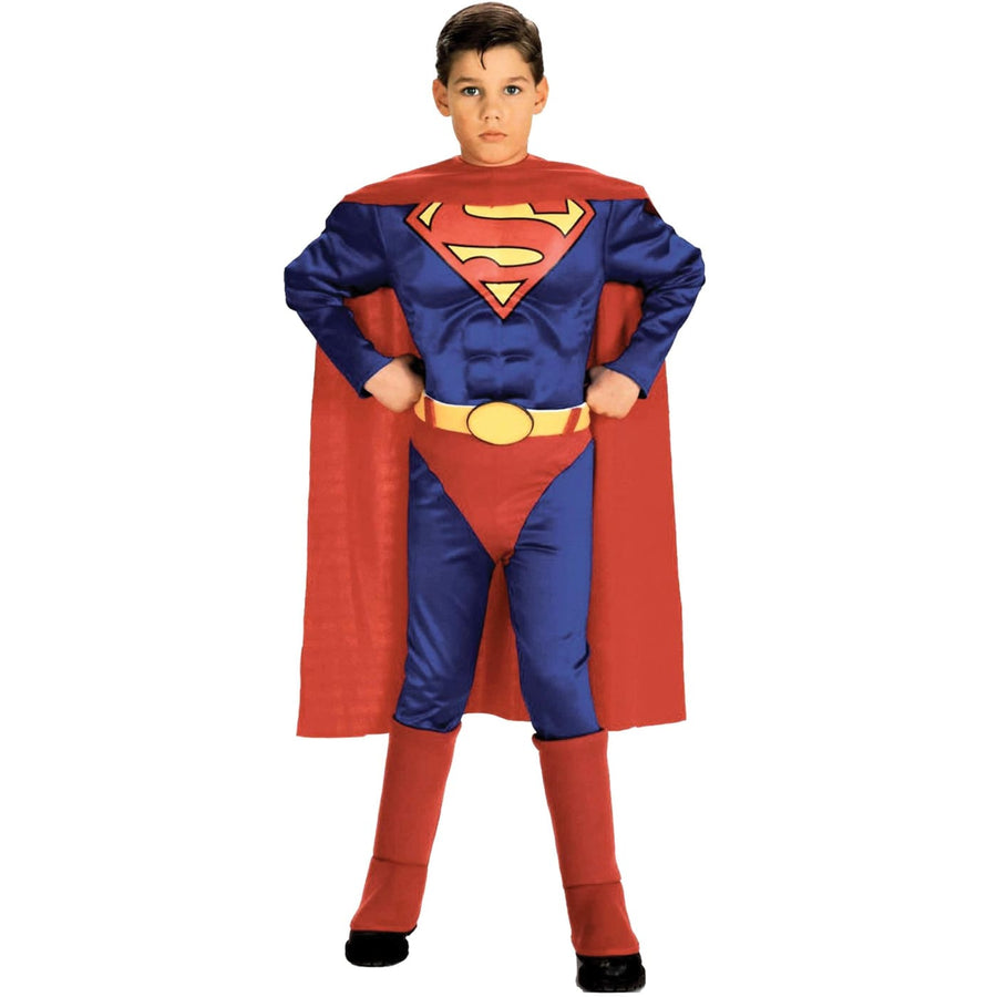 Superman Boys Costume W Chest Med - Boys Costumes boys Halloween costume
