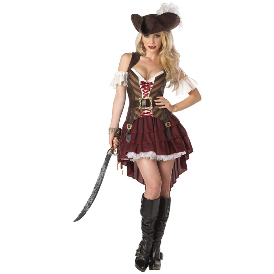 Swashbuckler Adult Costume Large 10-12 - adult halloween costumes female