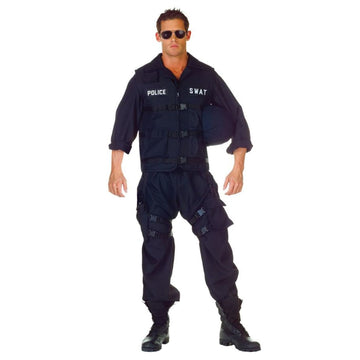 Swat Adult Costume One Size - Convict & Cop Costume featured Halloween costumes