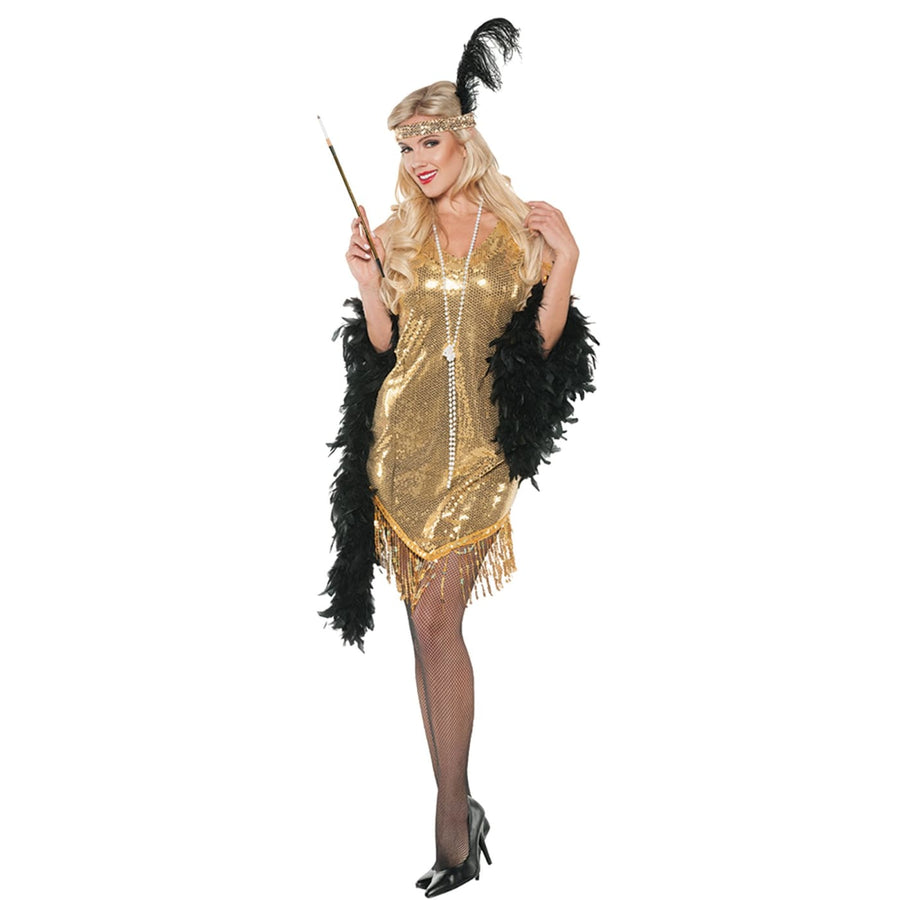 Swingin Gold Adult Costume Small - 20s - 40s Costume adult halloween costumes