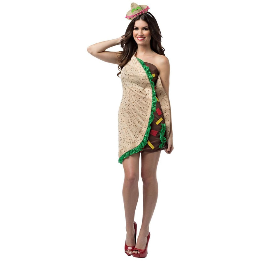 Taco Foodie Dress Adult Costume - adult halloween costumes Halloween Costumes
