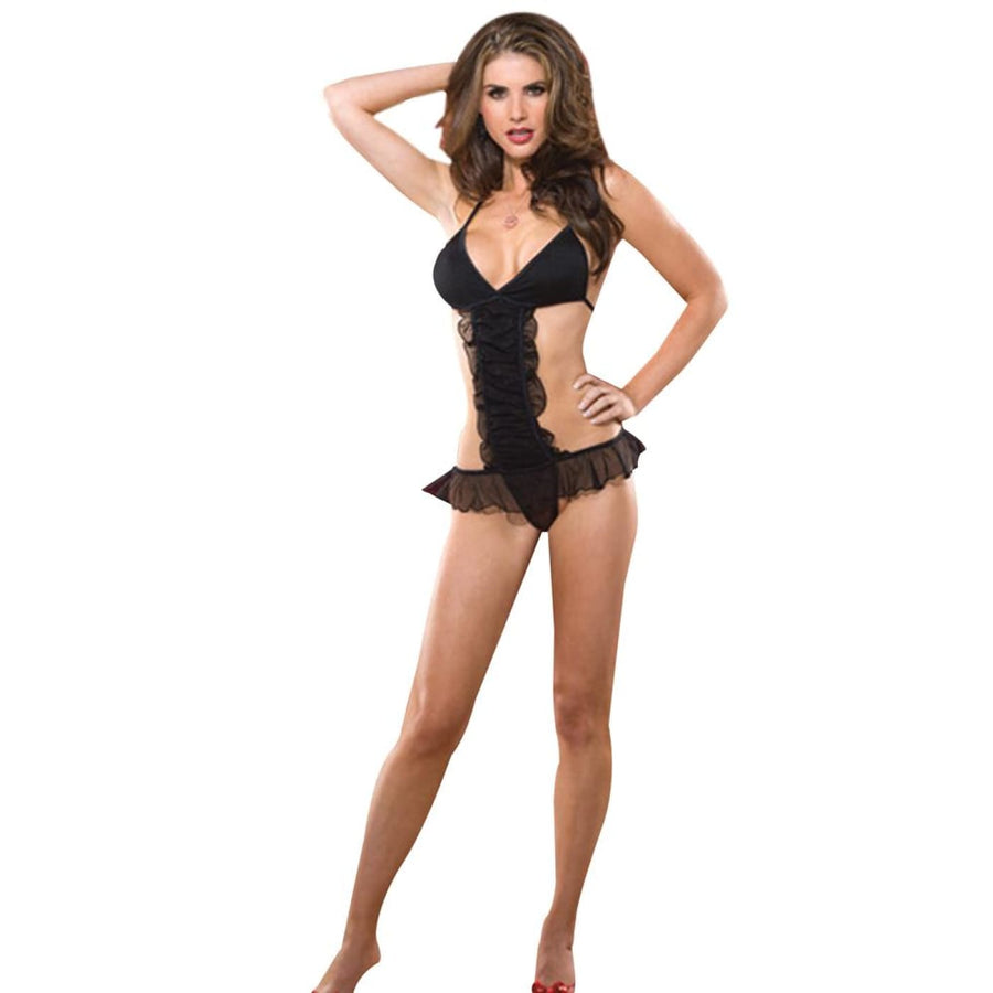 Teddy GatheRed and Black - Erotic Lingerie Halloween costumes Sexy Lingerie sexy