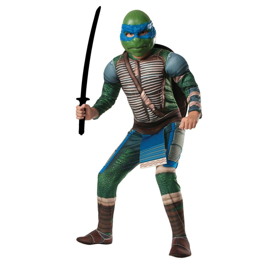 Teenage Mutant Ninja Turtle Leonardo Boys Costume Medium - Boys Costumes boys