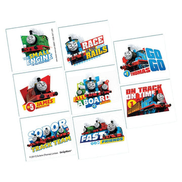 Thomas Tank Temporary Tattoos -Set of 8 - Birthday Party Decorations Birthday