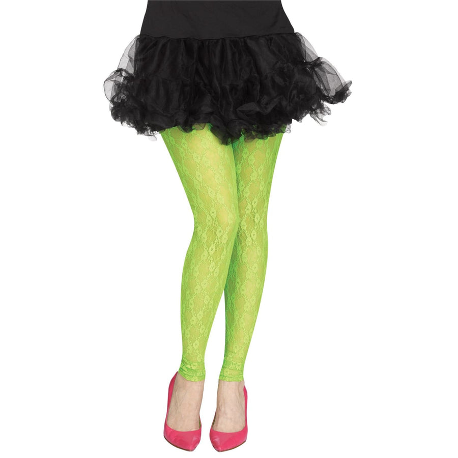 Tights Footless Green Lace 80s - Halloween costumes Tights Socks & Underwear