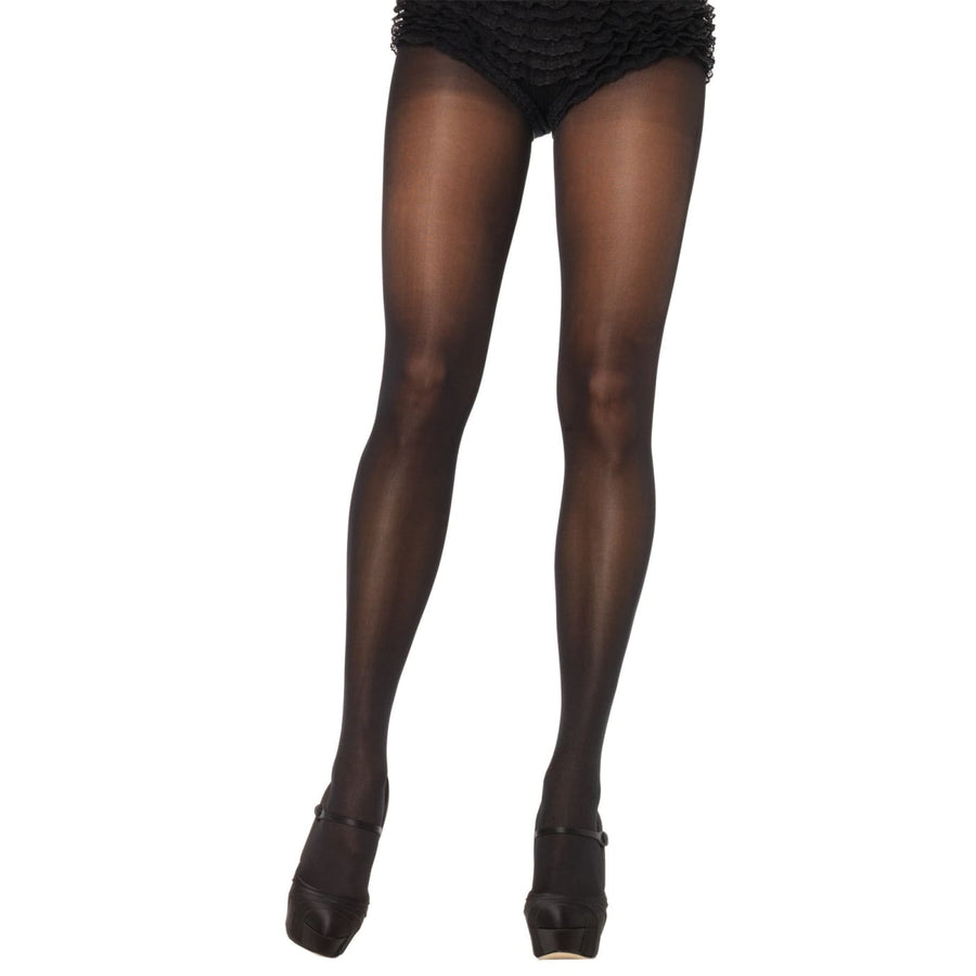 Tights Opaque Sheer Waist Black Queen - Halloween costumes New Costume Tights