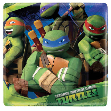 Tmnt 7 Inch Plates -Set of 8 - Birthday Party Decorations Birthday Party Plates