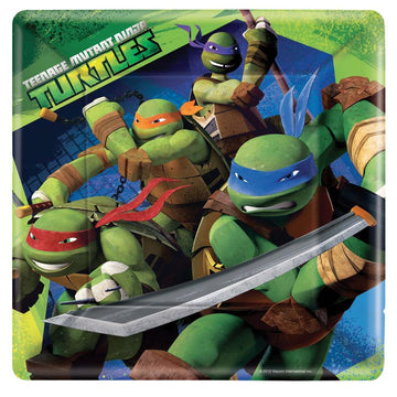 Tmnt 9 Inch Plates -Set of 8 - Birthday Party Decorations Birthday Party Plates