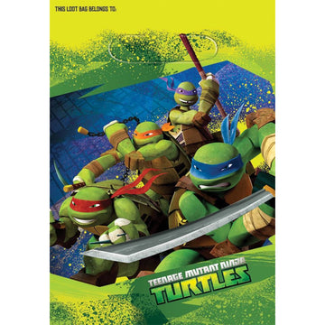 Tmnt Loot Bags -Set of 8 - Birthday Party Decorations Birthday Party Plates