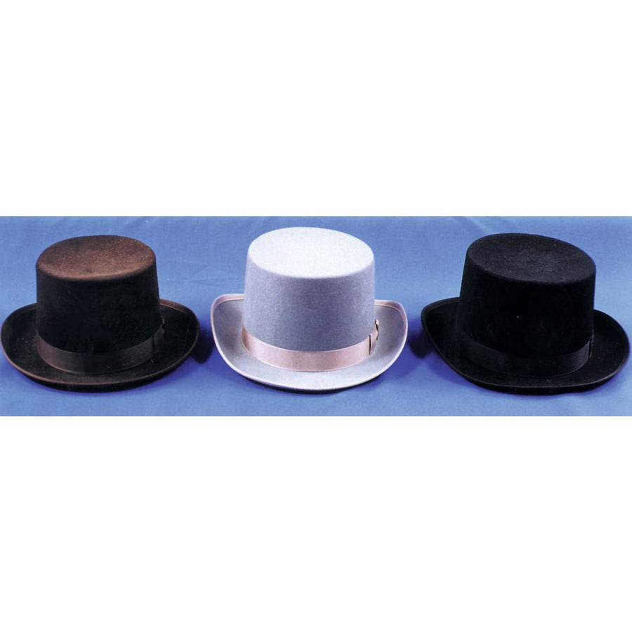 Top Hat Felt Quality Grey Med - 20s - 40s Costume Hats Tiaras & Headgear