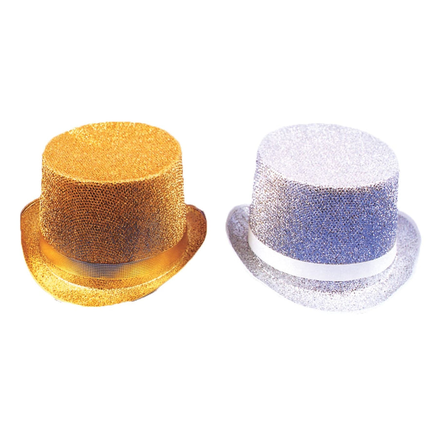 Top Hat Lame Gold - 20s - 40s Costume Hats Tiaras & Headgear