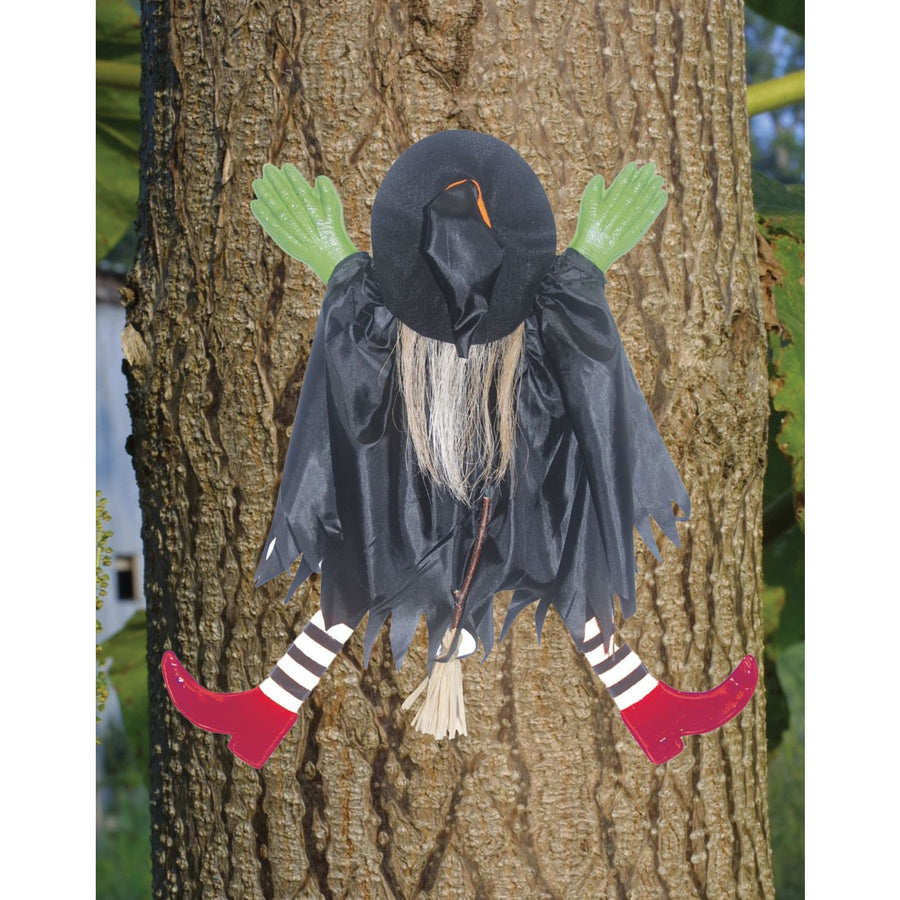 Tree Trunk Witch With Red Shoes - Decorations & Props Halloween costumes haunted