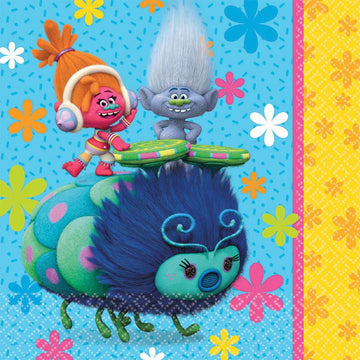 Trolls Lunch Napkins -Set of 16 - Birthday Party Decorations Birthday Party