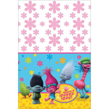 Trolls Party Table Cover - Birthday Party Decorations Birthday Party Plates