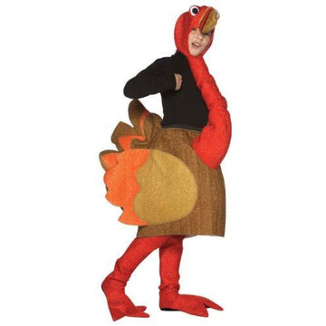 Turkey Gobble Thanksgiving Kids Costume 7-10 - Boys Costumes Girls Costumes