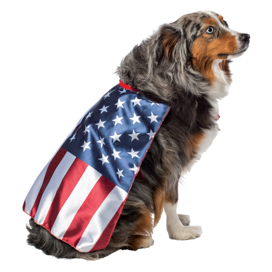 USA Dog Flag Cape Large - Halloween costumes Robes Capes & Wings