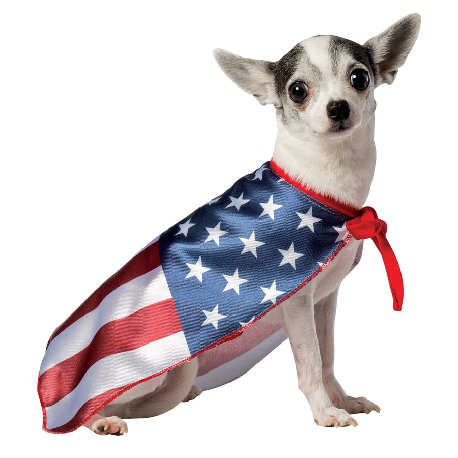 USA Dog Flag Cape Small - Halloween costumes Robes Capes & Wings