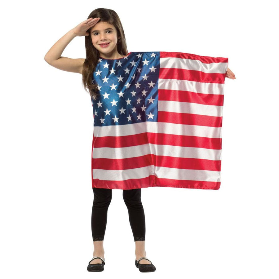 Usa Flag Dress Kids Costume Small 4-6 - Girls Costumes Halloween costumes