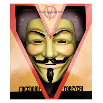 V For Vendetta Deluxe Costume Anonymous Mask - Costume Masks Halloween costumes