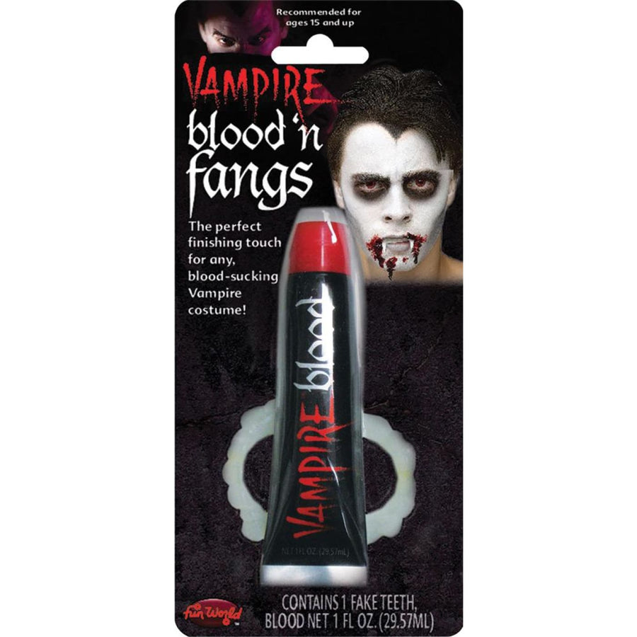 Vampire Blood And Teeth Kit - Costume Makeup New Costume
