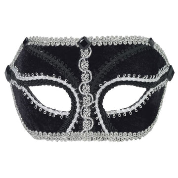 Venetian Glasses Black Silver Mask - Costume Masks Halloween costumes Halloween