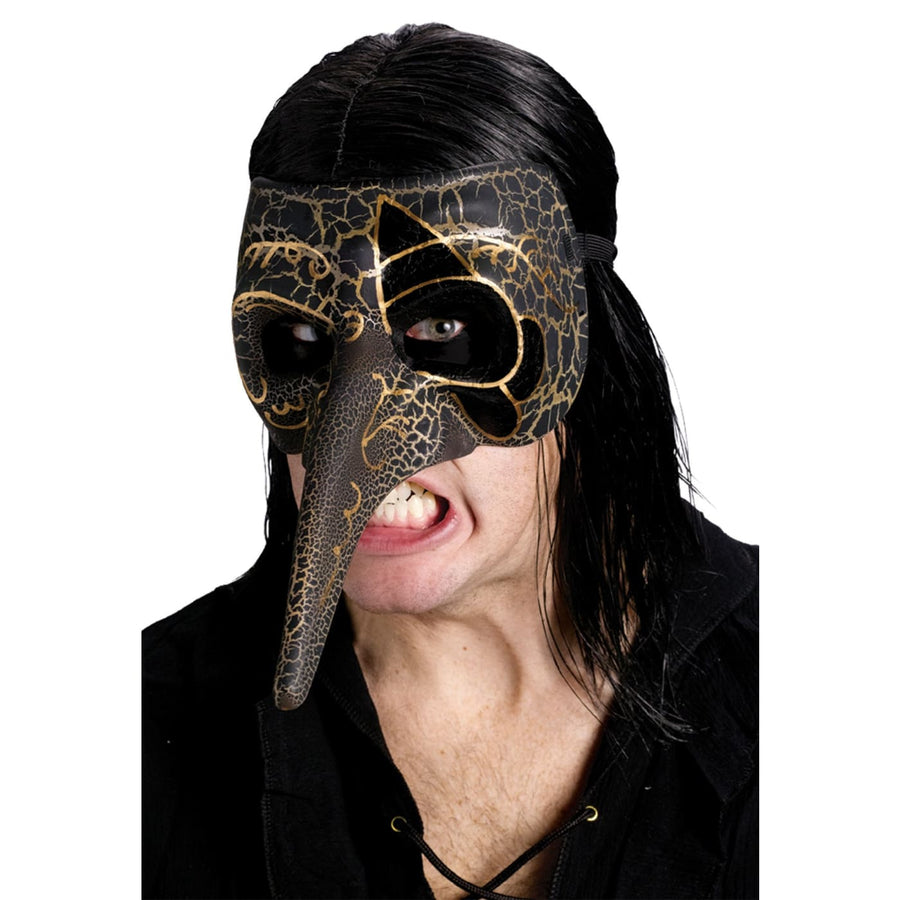 Venetian Raven Mask Black - Costume Masks Halloween Mask Holiday Costumes rubber