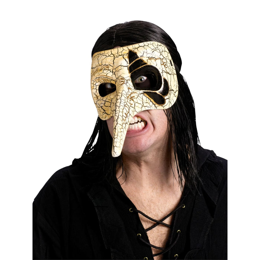 Venetian Raven Mask Ivory - Costume Masks Halloween costumes Halloween Mask