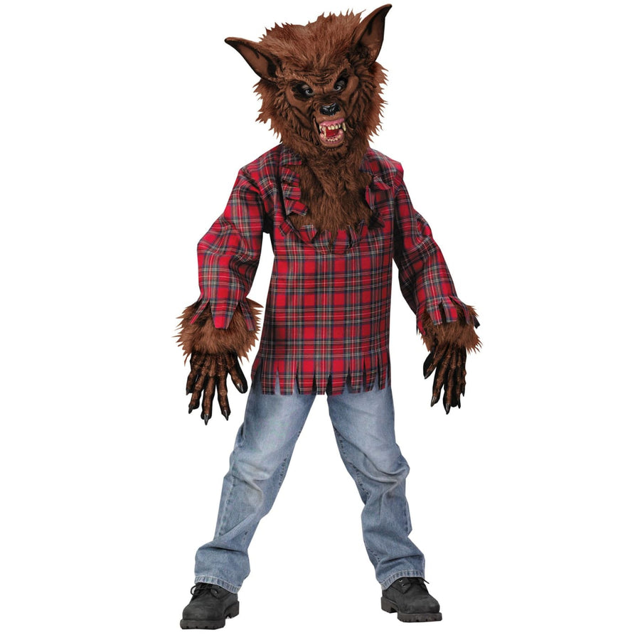 Werewolf Child Lg Brown Mask - Animal & Insect Costume Halloween costumes