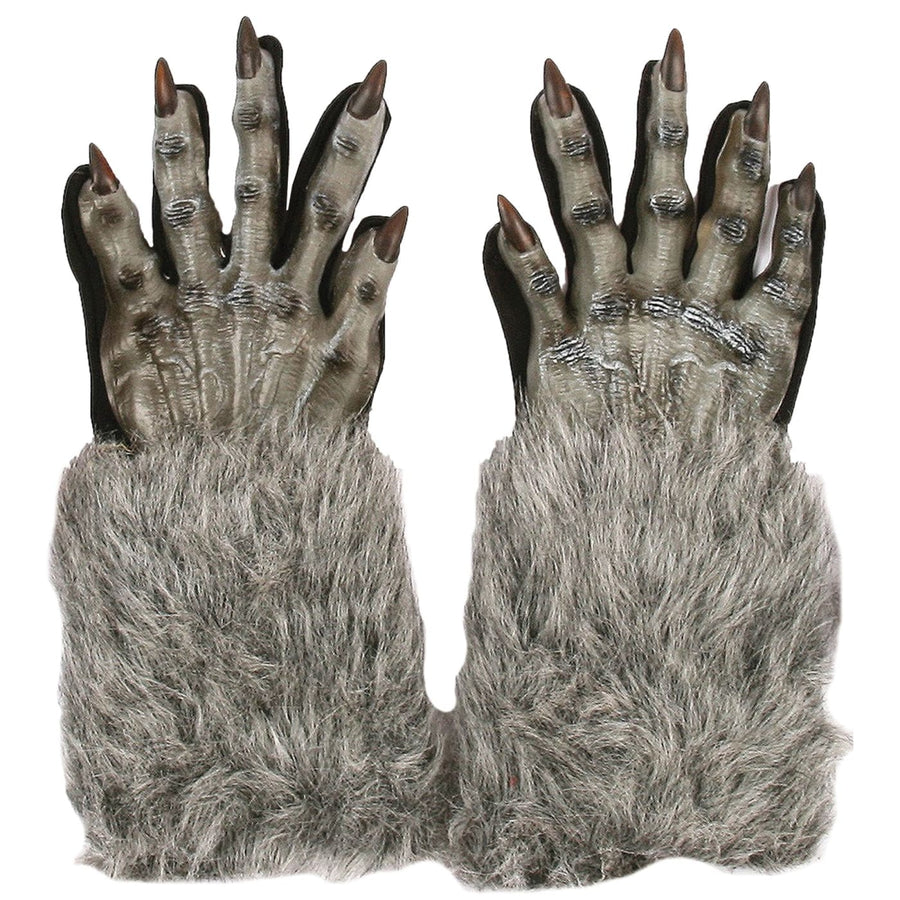 Werewolf Grey Adult Costume Gloves - Ghoul Skeleton & Zombie Costume Halloween