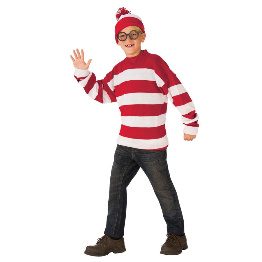 Wheres Waldo Deluxe Boys Costume Lg - Boys Costumes Halloween costumes New