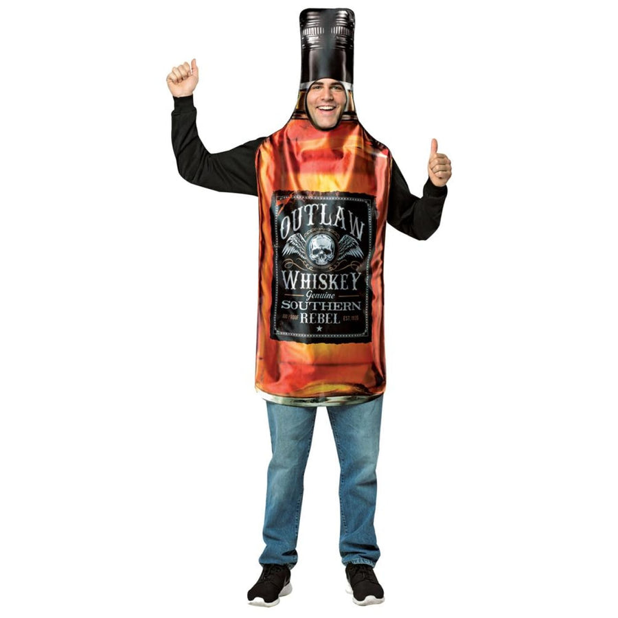 Whisky Bottle Get Real Adult Costume - adult halloween costumes Funny Costume