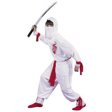 White Ninja Deluxe Boys Costume Small - Boys Costumes boys Halloween costume