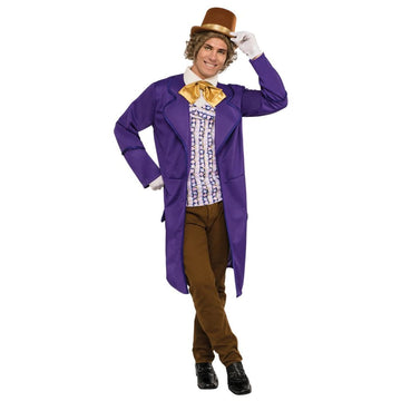 Willy Wonka Adult Costume Standard Size - adult halloween costumes halloween