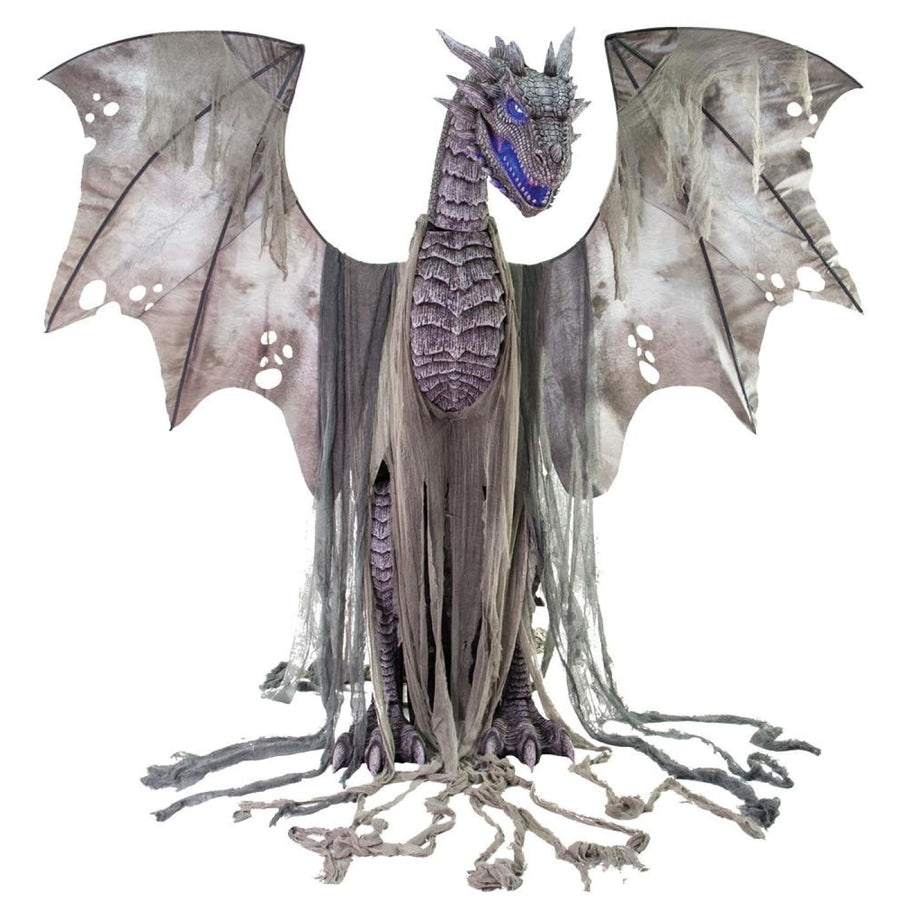 Winter Dragon Animated 7Ft Prop - Decorations & Props Halloween costumes haunted
