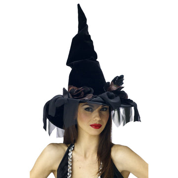 Witch Hat Deluxe Winding - Halloween costumes Hats Tiaras & Headgear Witch &