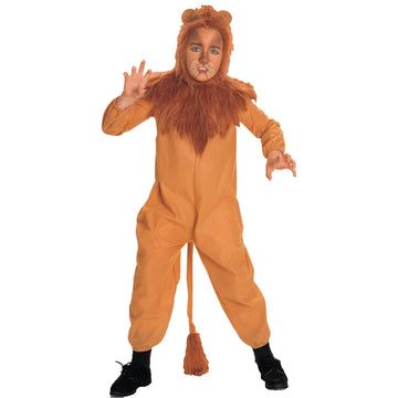 Wizard Of Oz Cowardly Lion Boys Costume Sm - Animal & Insect Costume Boys