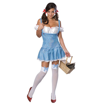 Wizard Of Oz Dorothy Adult Costume Lg - adult halloween costumes female