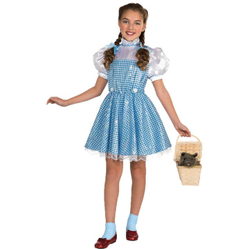 Wizard Of Oz Dorothy Ch Sm Web - Girls Costumes girls Halloween costume