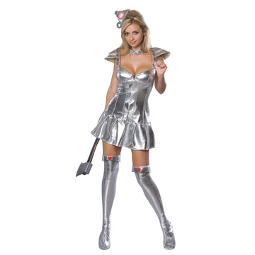 Wizard Of Oz Tin Woman Adult Costume Sm - adult halloween costumes female