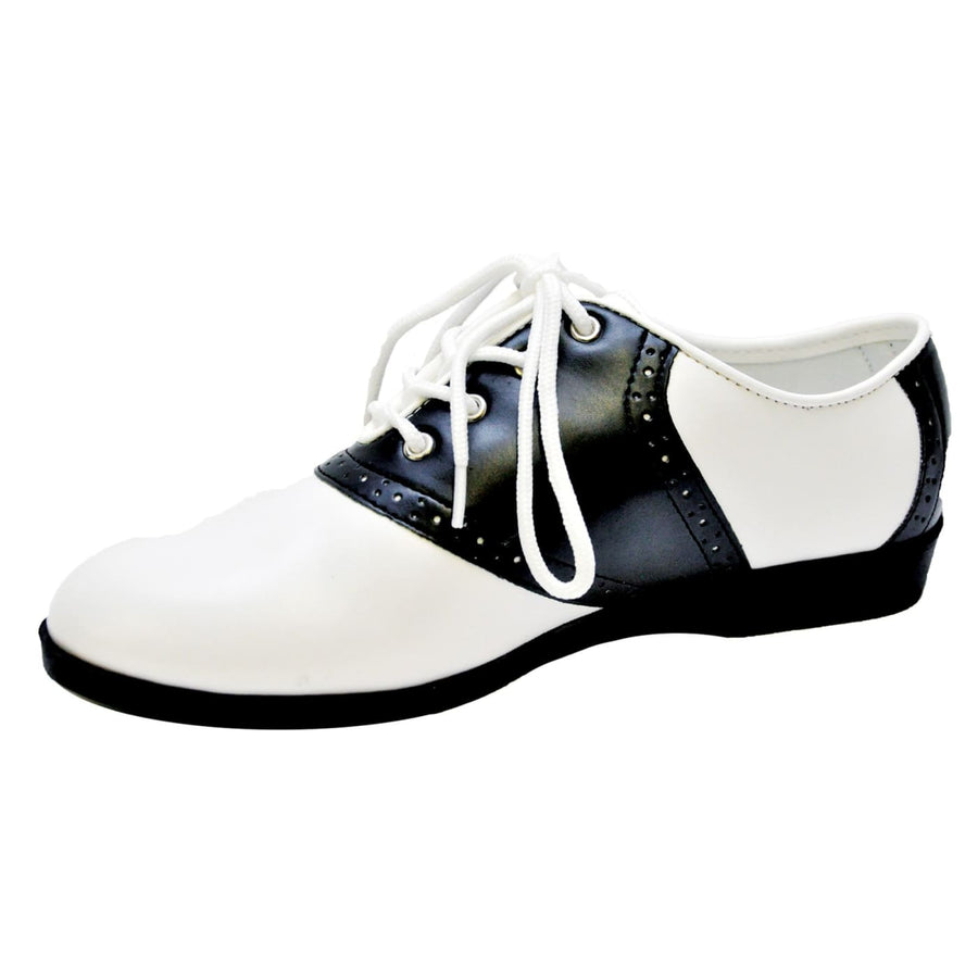 Womens Black And White Saddle Shoe Lg - 50s Costume Gangster & Flapper Costume