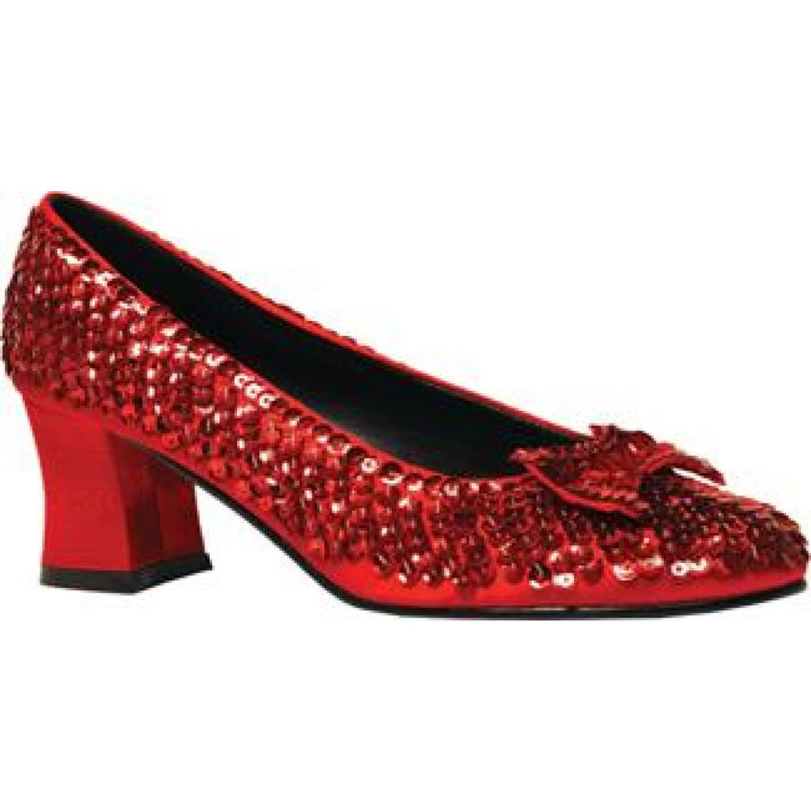 Womens Red Sequin Shoes Sm - Halloween costumes Shoes & Boots Valentines Day