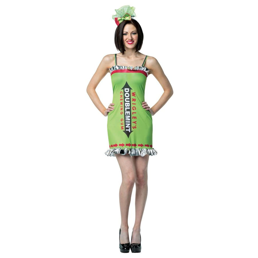 Wrigleys Gum Double Mint Dress Adult Costume - adult halloween costumes