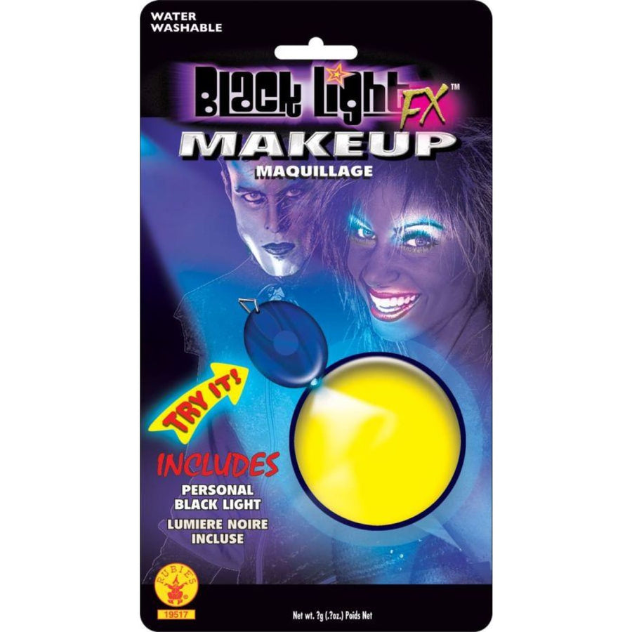 Yellow Glow Backlight Makeup - Costume Makeup Halloween makeup