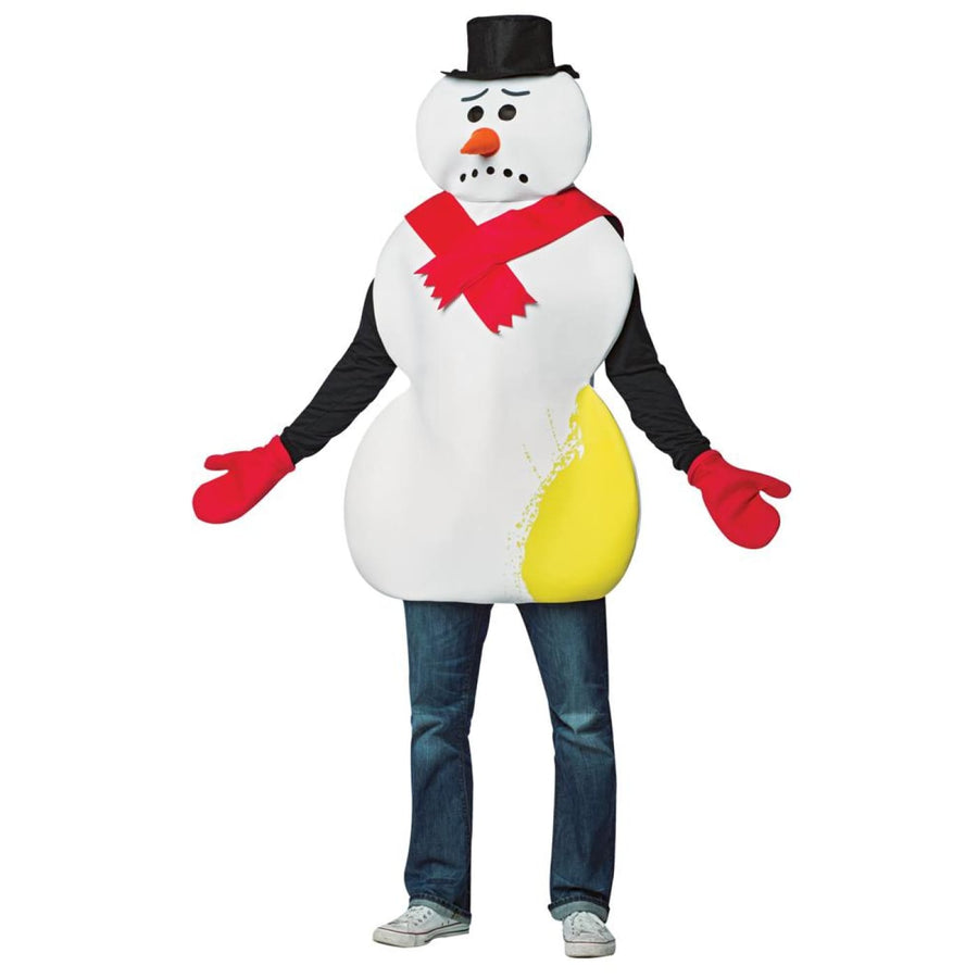 Yellow Snowman Adult Costume - adult halloween costumes halloween costumes Mens
