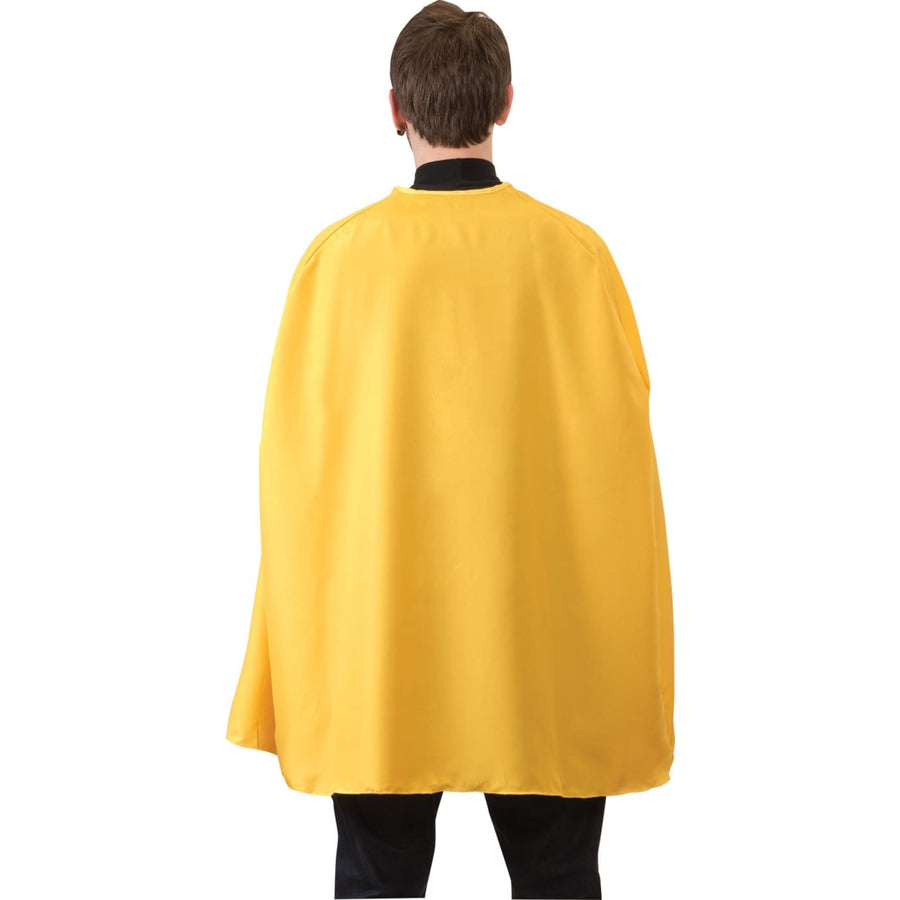 Yellow Superhero Cape Adult Costume 36 Inches - Halloween costumes Robes Capes &