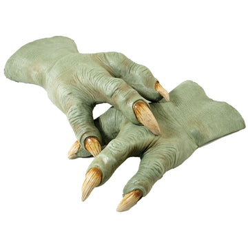 Yoda Hands Adult Sz - Halloween costumes Hands Feet & Chest Star Wars Costume