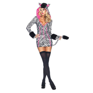 Zebra Savannah Adult Costume Lg 12-14 - adult halloween costumes Animal & Insect